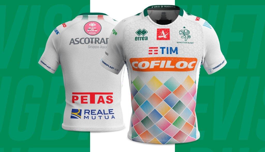camiseta rugby benetton rugby treviso 2019 segunda