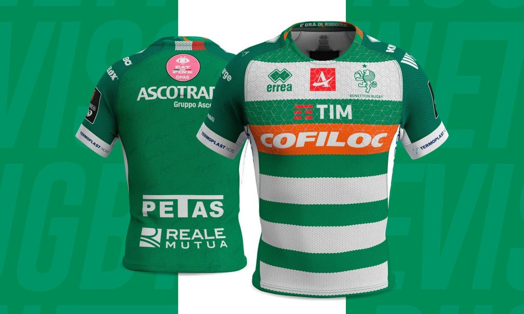 camiseta rugby benetton rugby treviso 2019