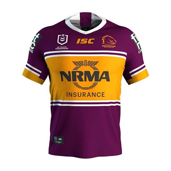 Camiseta Brisbane Broncos Rugby 2019 Local