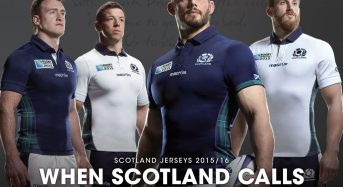 Scottish Rugby RWC 2015 aterrizaje del kit